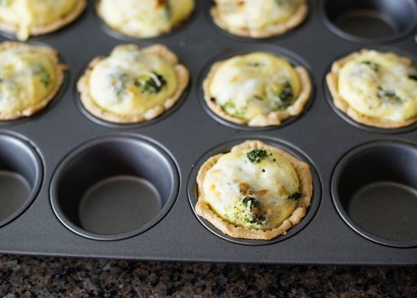 mini broccoli quiche recipe