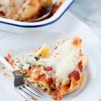 kale stuffed shells recipe