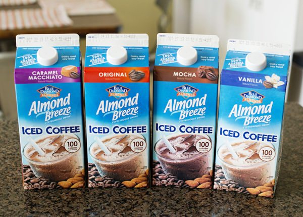 almond milk in coffee