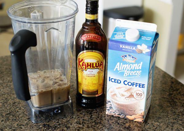 boozy almond milk frappuccino
