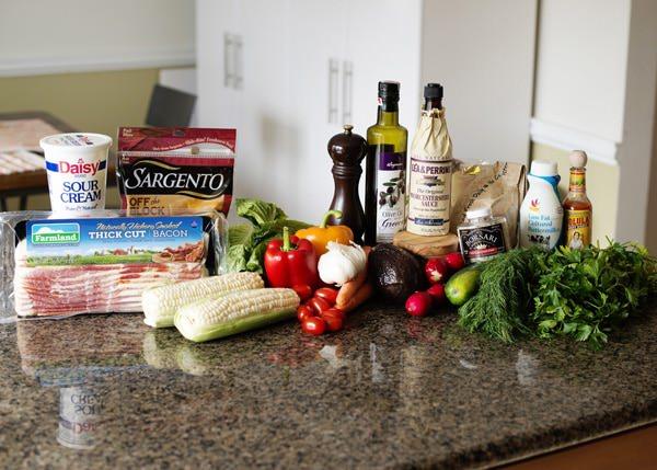 Kansas Chopped Salad with Peppercorn Ranch recipe