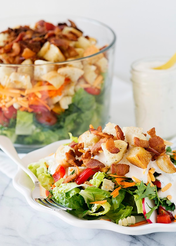 Kansas Chopped Salad with Peppercorn Ranch recipe