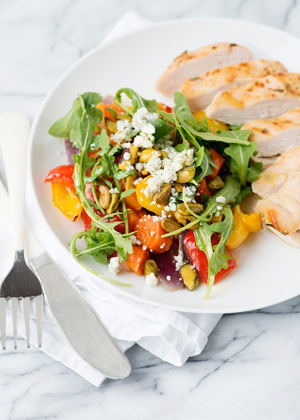 Roasted Vegetable and Chicken Salad