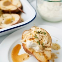 Roasted Pears with Maple Ricotta Cream recipe