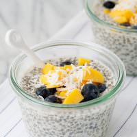 Chia Seed Pudding with Mango and Blueberry