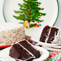 Chocolate Cake with Kahlua Chip Frosting
