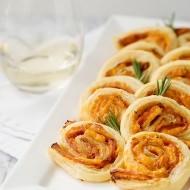ham cheddar and rosemary pinwheels recipe