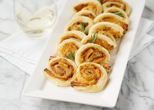 ham and honey mustard puff pastry rolls