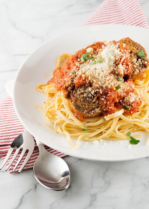 Braciole with pasta