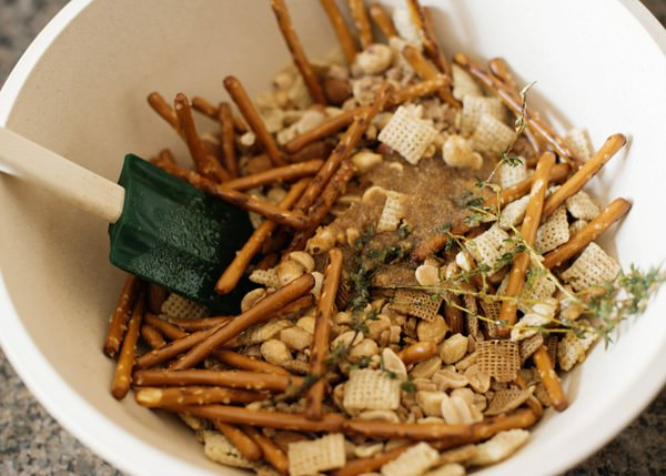 Toffee Nut Snack Mix recipe