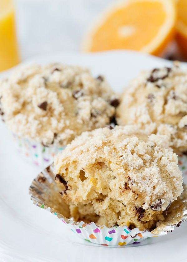 Whole Wheat Orange Chocolate Chip Muffins recipe
