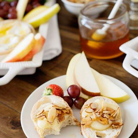 Baked Brie with Buttered Almonds