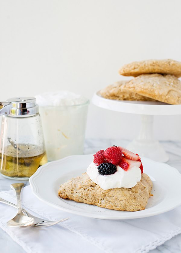 Lemon and Vanilla Bean Scones with Un-Clotted Cream