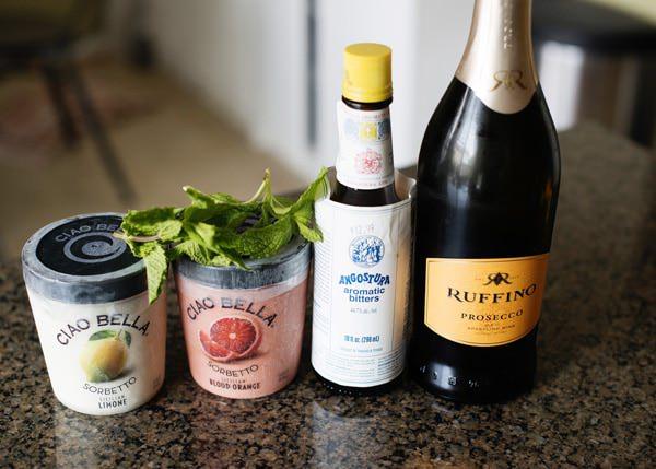 prosecco champagne cocktails