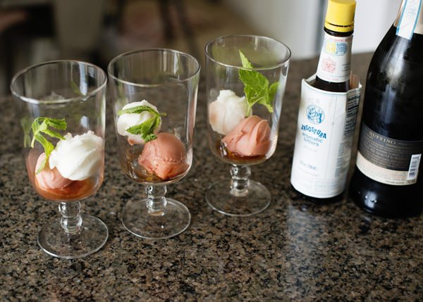 Sorbet And Champagne Cocktail Recipe — Dishmaps