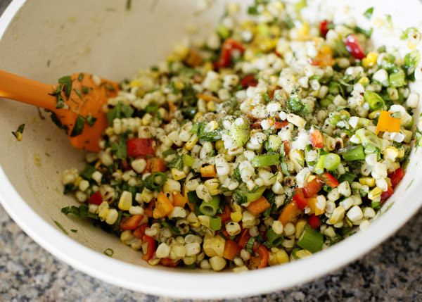 grilled corn salad with herb recipe