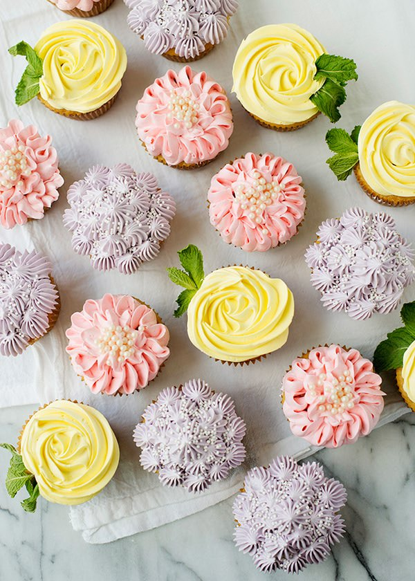Flower Cupcakes [Roses, Zinnias, and Hydrangeas] - Baked Bree