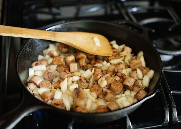 Spinach Sausage and Tomato Strata recipe