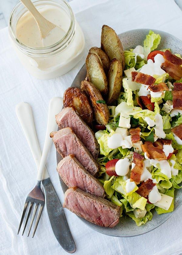 steak and roasted potato salad recipe
