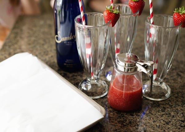 strawberry ice cream soda recipe