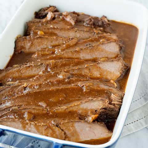 Slow Cooker Sweet and Sour Brisket