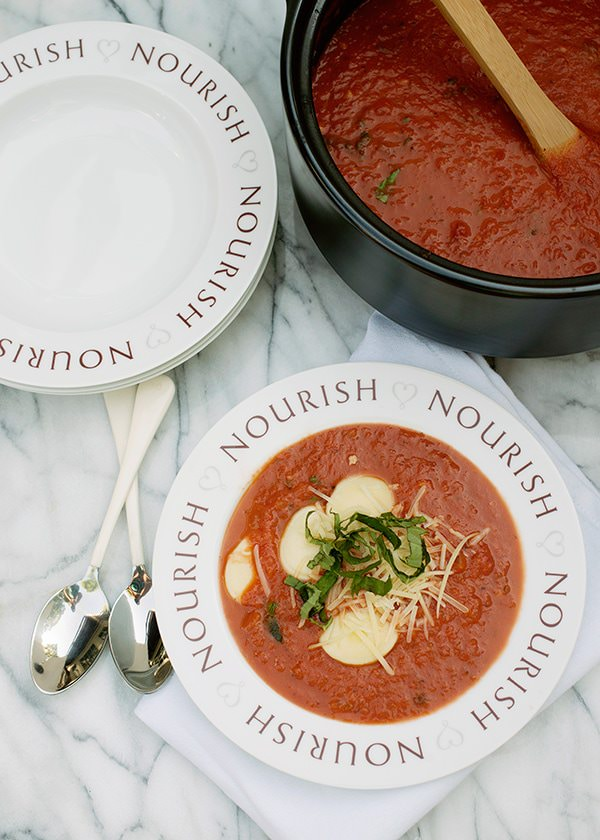 tomato basil soup with mini ravioli recipe