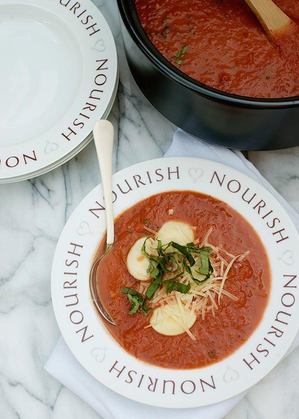 tomato basil soup with ravioli recipe