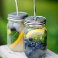 Blueberry Basil Lemonade Cocktails