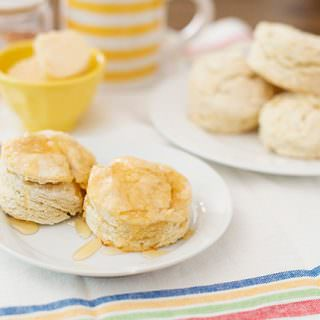 Easy Buttermilk Biscuits with Honey Cayenne Butter
