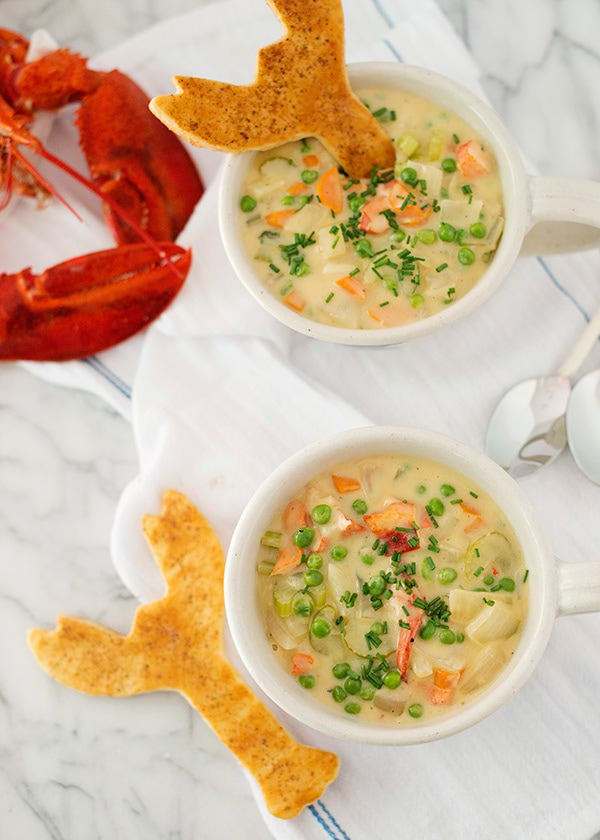 lobster pot pie with old bay puff pastry crackers recipe