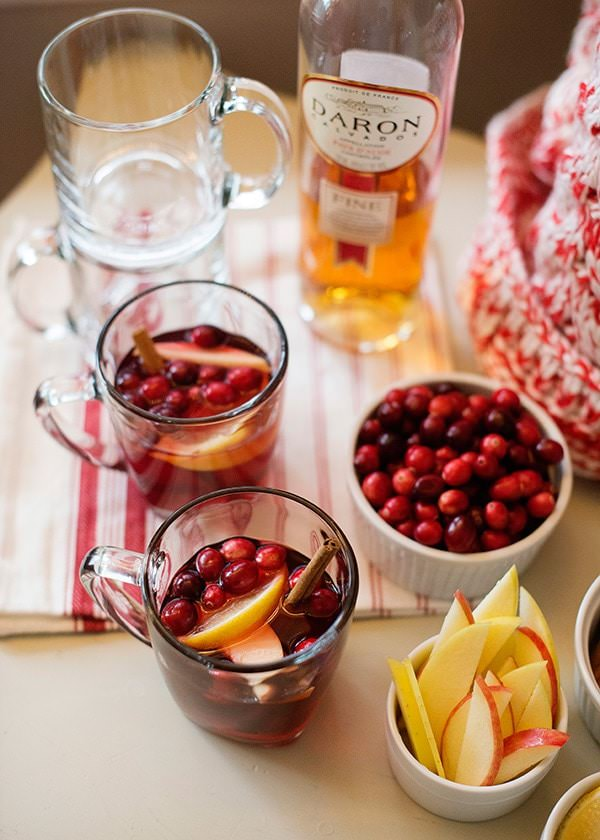warm cranberry calvados cocktail