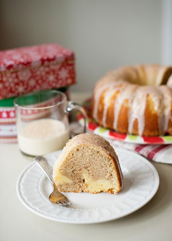 eggnog swirl bundt cake