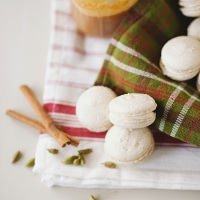 Cardamom Macarons with Sea Salt Caramel Filling recipe