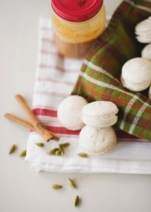 Cardamom Macarons with Sea Salt Caramel Filling recipe