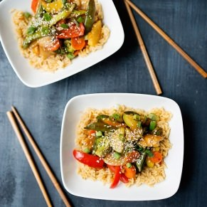Healthier Orange Chicken and Vegetables