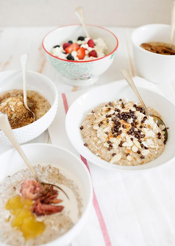 steel cut oats 5 ways