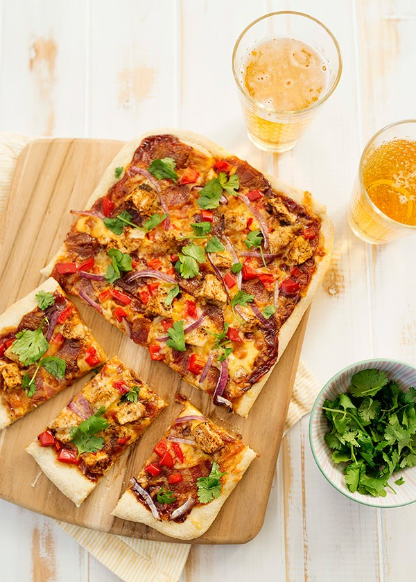 Sheet Pan BBQ Chicken Pizza