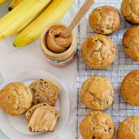 Banana Peanut Butter Muffins + Jif Morning Hacks