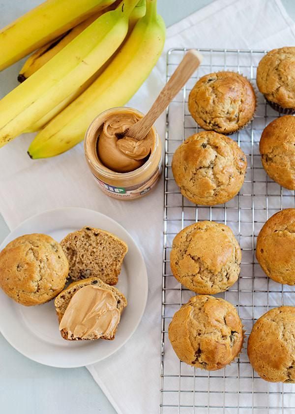 Banana Peanut Butter Muffins + Jif Morning Hacks