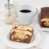 Copycat Starbucks Marble Loaf Cake