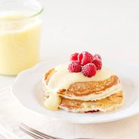 Lemon Raspberry Pancakes