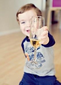 Child drinking apple cider