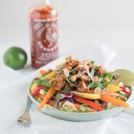 Honey Sriracha Chicken Bowls