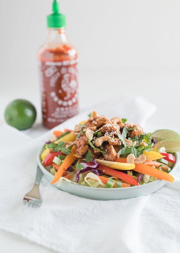 Honey Sriracha Chicken Bowls