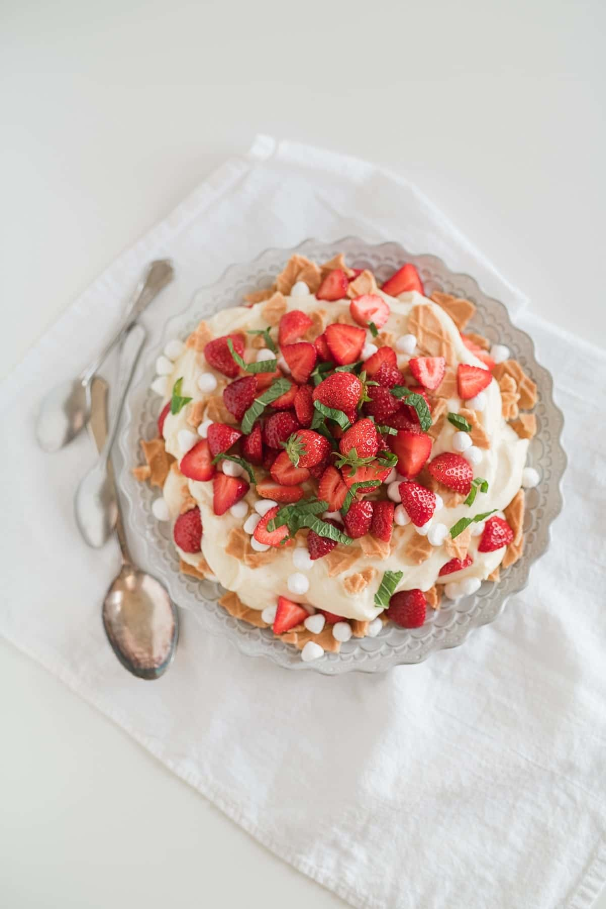 Strawberries and Custard Cream
