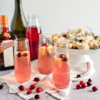 Champagne with Cranberry and Orange