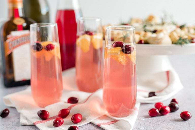 Prosecco with Cranberry and Orange