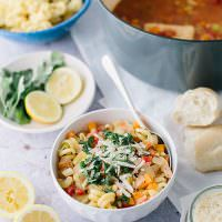 Lemony Vegetable Minestrone Soup