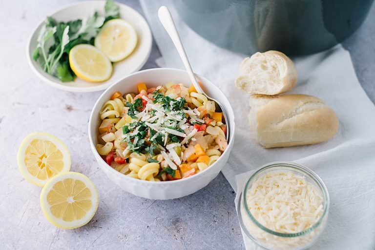 Lemony Vegetable Minestrone