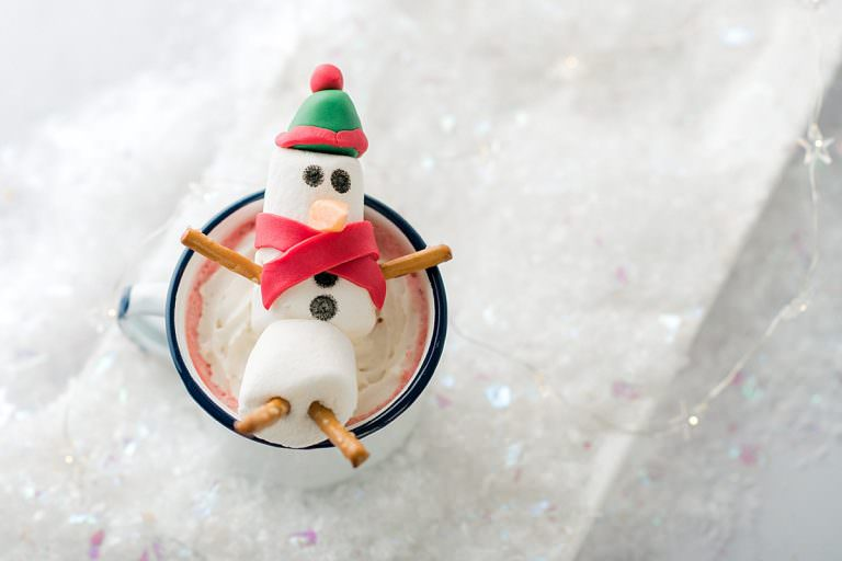Snowman Marshmallow Hot Chocolate Toppers
